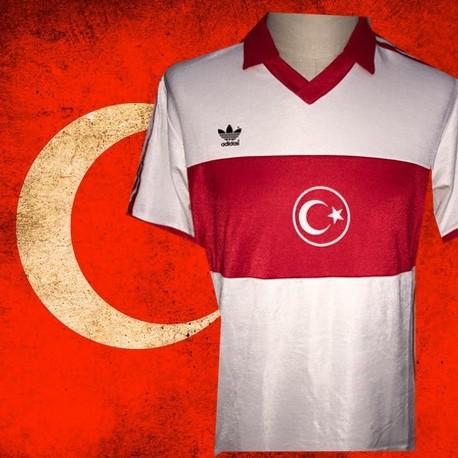 4f2cc178b5 Camisa retrô Turquia branca logo - 1989