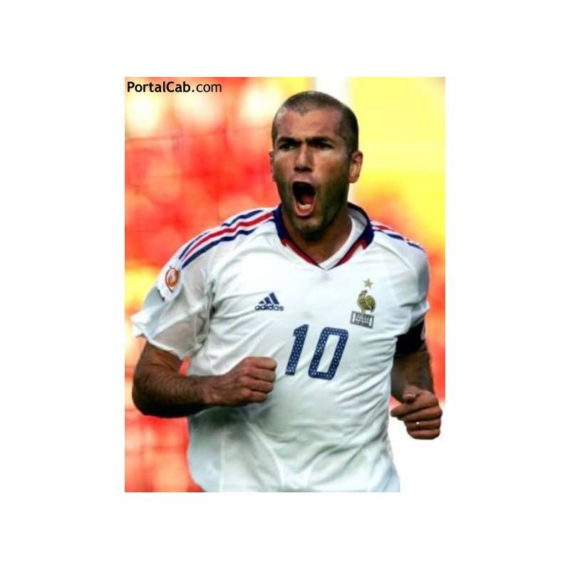Camisa retrô França Zidane branca ML. 482a0248acc04