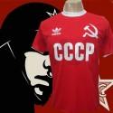 Camisa  retrô CCCP vermelha foice.