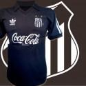 Camisa retrô Santos   logo preta
