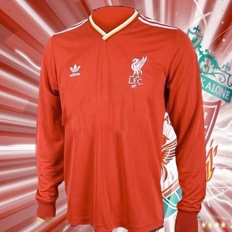 1f5cbdcb43 Camisa retrô Liverpool 1978 branca away