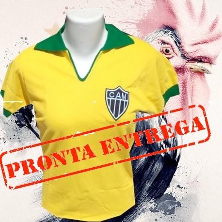 7386ad115 Camisa retrô baby look Atlético mineiro 1910