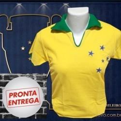 Camisa baby look retrô Cruzeiro 1942