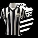 Camiseta retrô Comercial listrada logo SP-1980