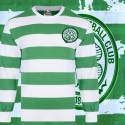 Camisa  retrô Celtic  gola V Glasgow 1970 ML- ESC
