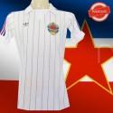 Camisa retrô   Antiga  Yougoslavia  branca  1974
