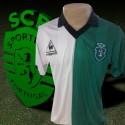 Camisa retrô  Sporting  clube de portugal  branca le coq