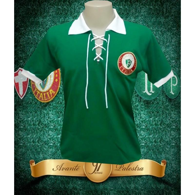 8b17446315e07 Camisa retrô Palmeiras cordinha palestra Italia .