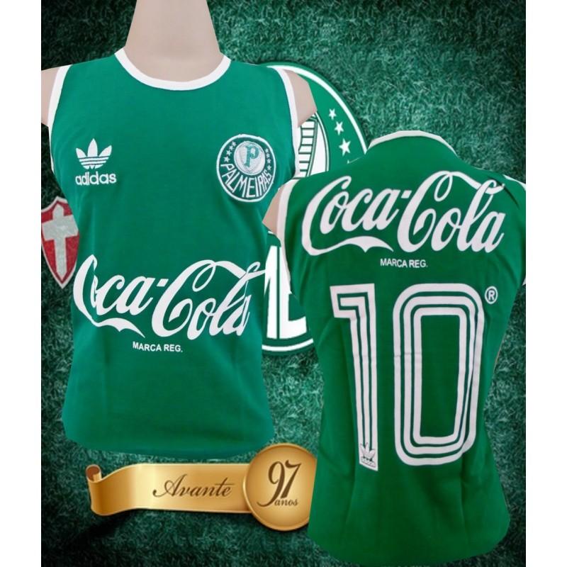 eb3bc39bcd Regata retrô Palmeiras verde coca cola