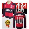 Camisa retrõ Flamengo lubrax manga longa