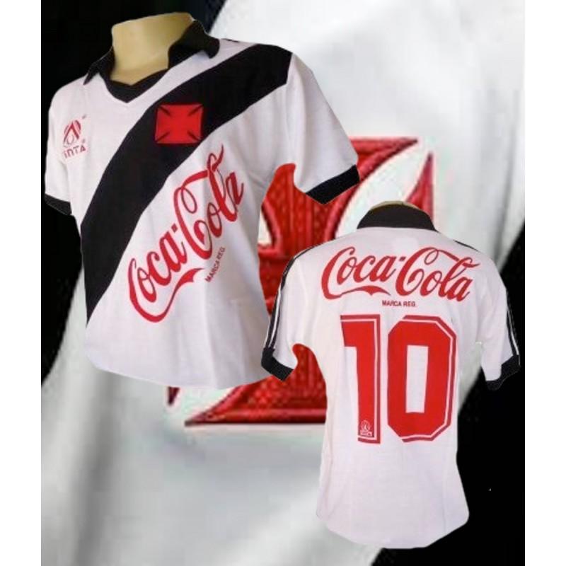 Camisa retrô Vasco da gama 1989 finta branca 4710a9914dd30