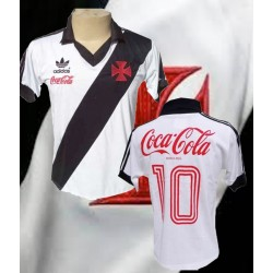 Camisa retrô  Vasco branca - 1987 coca  frente