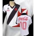 Camisa retrô Vasco  coca frente branca  1987.