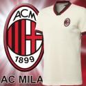 Camisa retrô  Milan AC branca logo - ITA