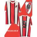 Camisa retrô River Plate  listrada1980 - ARG