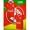 Camisa retrô inter umbro  vermelha 1989.