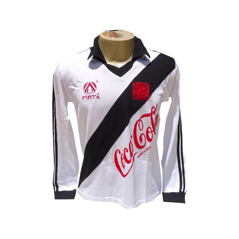 ... Camisa retrô vasco branca manga longa 1989 ... ee6e08ef3eb4b