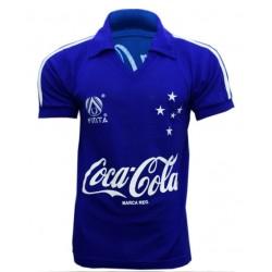 - Camisa retrô Cruzeiro finta azul  1990