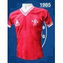 Camisa retro  Chelsea  vermelha le coq  1985- ENG