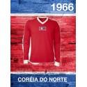 Camisa retrô  Coreia  do Norte  vermelho  - 1966