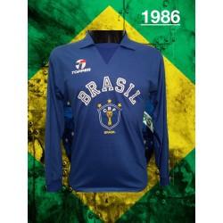 Camisa retro seleçao azul manga longa 1978