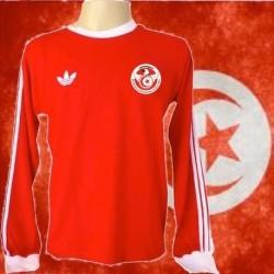 Camisa retrô da Tunisia ML vermelha - 1978