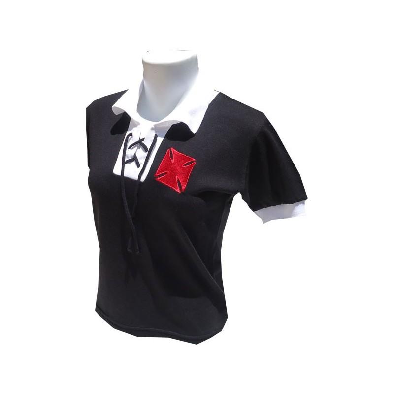 1bb47d054 ... Camisa retrô Vasco 1943 baby look cordinha ...