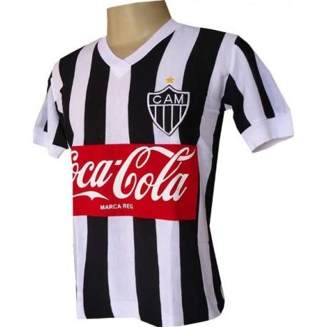 Camisa retrô Atlético mineiro Coca Cola frente 1986. c69338a5c8115