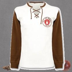 Camisa retrô  St Pauli marron  tradicional- ALE
