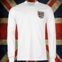 Camisa retrô da Inglaterra  branca  ML - 1970
