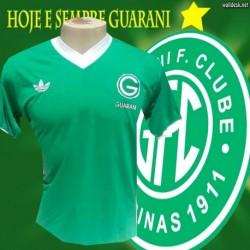 Camisa retrô Guaran gola V década de 80