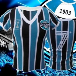 Camisa retrô Grêmio baby look