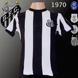 Camisa retrô Santos de 1970 listrada