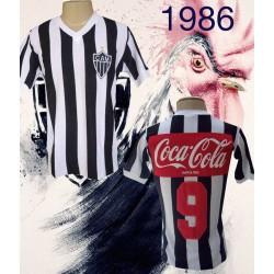 Camisa retrõ Atletico mineiro coca cola costas 1986
