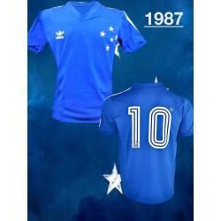 Camisa retrô Cruzeiro  azul - 1987