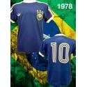 Camisa retrô Seleção Brasileira azul  logo -1978