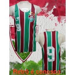 Camisa retrô Fluminense maquina tricolor 1970