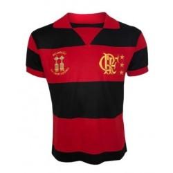 Camisa retrô Flamengo branca lubrax