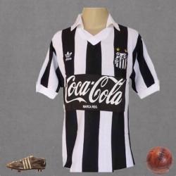 Camisa retro SANTOS Listrada LOGO coca cola